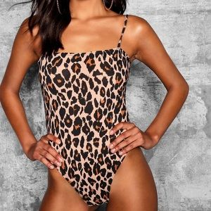 Square Neck Leopard Bodysuit